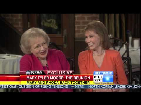 "Cloris Leachman, Mary Tyler Moore, Valerie Harper exclusive with Katie Couric for ""GMA"" Apr 5, 2013"
