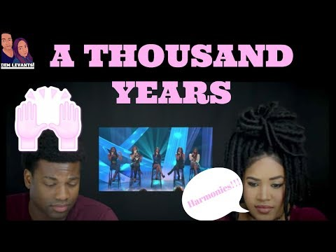 Fifth Harmony- A Thousand Years X Factor 2012| REACTION