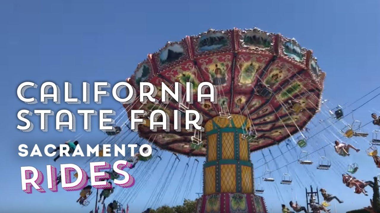 Rides at California State Fair 2017 in Calexpo, Sacramento, CA