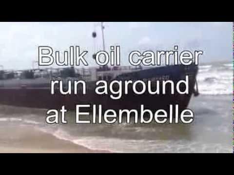 Bulk Oil Carrier Run Aground in Elembele - Ghana