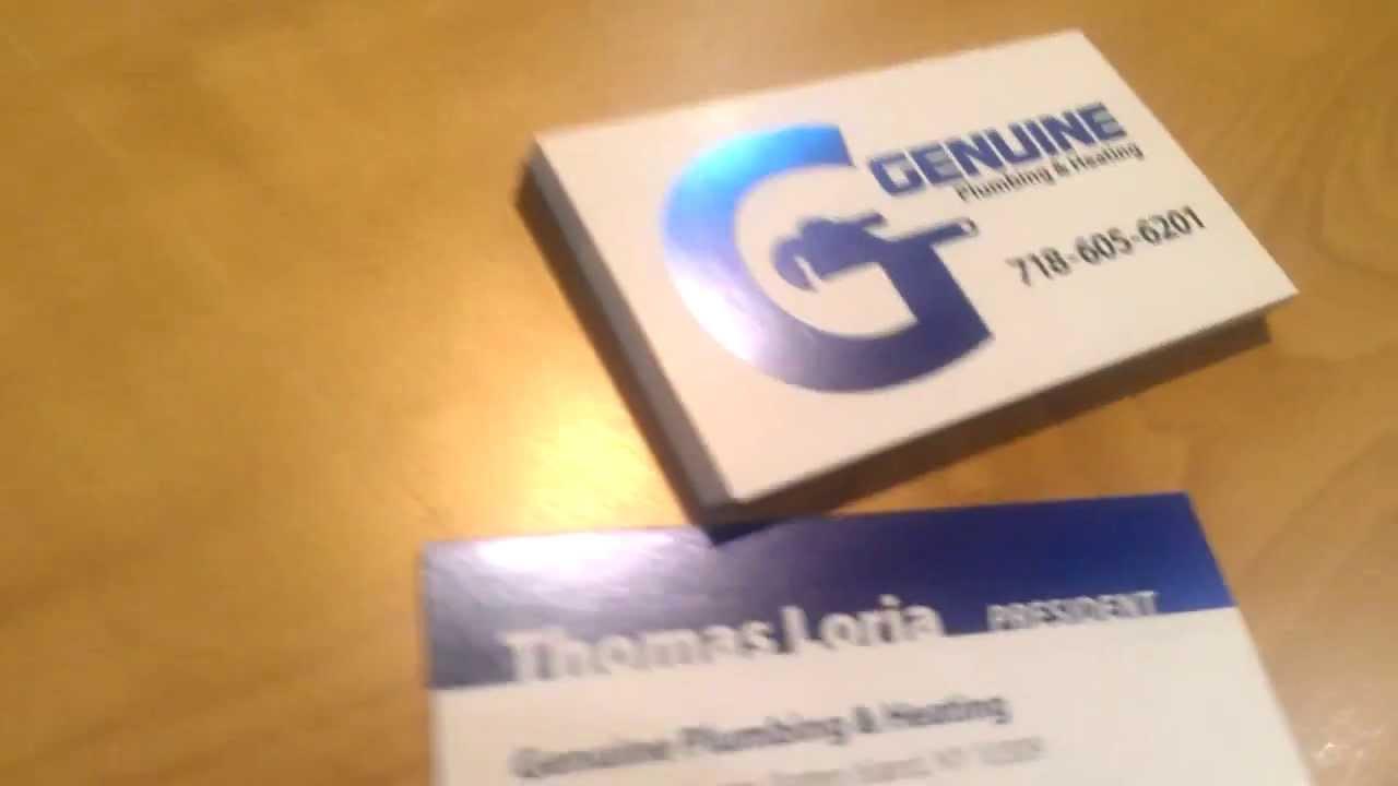 Akuafoil business card printing genuine plumbing youtube akuafoil business card printing genuine plumbing colourmoves