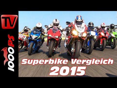 1000er Supersport Vergleich 2015 - Alle Superbikes im Test Foto