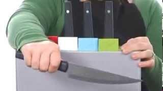 Набор разделочных досок с ножами Joseph Joseph Index™ Advance with knives серебристый видеообзор