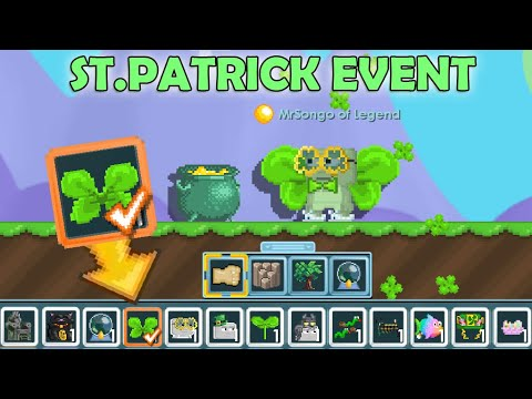 New St Patrick 2020 Making Shamrock Wings New Items Omg Growtopia Youtube
