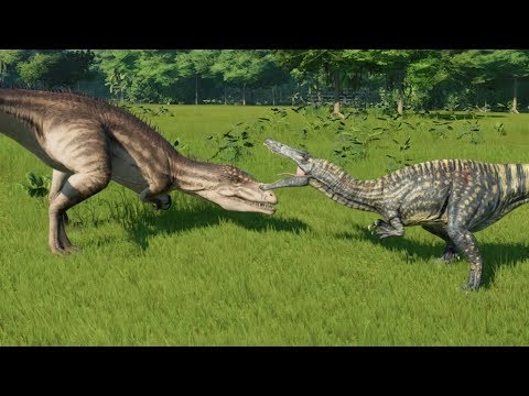 Suchomimus VS Carcharodontosaurus - Jurassic World Evolution