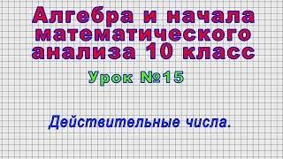 Алгебра 10 класс (Урок№15 - Действительные числа.)