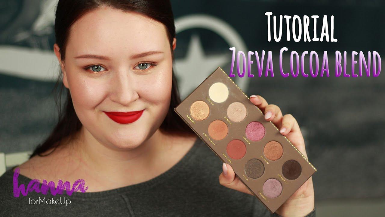 Tutorial Zoeva Cocoa Blend Palette Goldenes Augen Makeup Mit