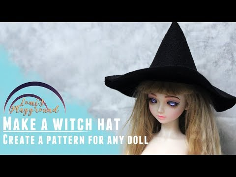 How to make a witch hat for any size doll