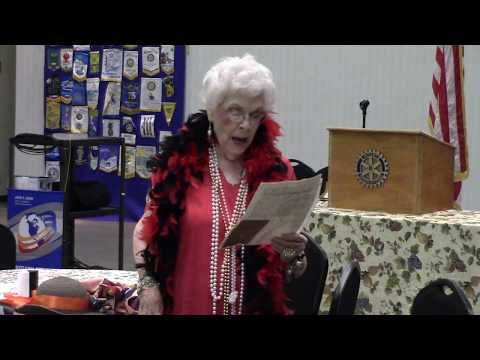 Virginia Carroll at Gilmer Rotary Club  June 6, 2017