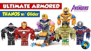 Ultimate Venom Hulk Iron Man Ant-Man Armor Thanos w/ Glider Unofficial LEGO Minifigures