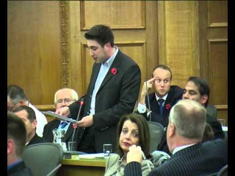 Barnet Council Full Council Meeting 6.11.12 Parking  - Cllr Daniel Seal