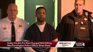 Guilty verdict in death of New Kensington police Officer Brian Shaw