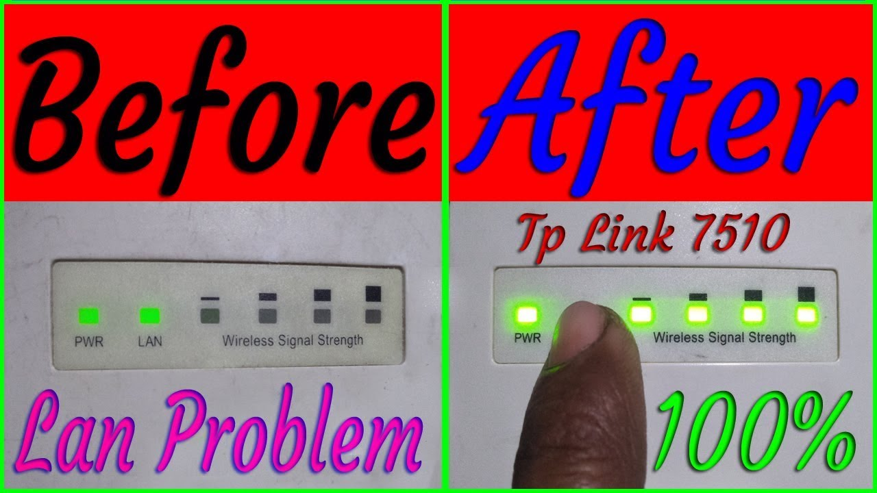 How To Fix Repair Tp Link 7510 Lan Problem Solution 1000% - Travel