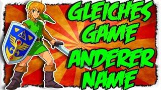 ZELDA hat einen ANDEREN NAMEN - Gleiche Spiele mit anderen Namen