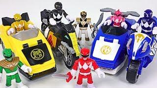 Sand monster, dinosaur appeared! Power Rangers battle bike! Save the Robocar Poli! - DuDuPopTOY