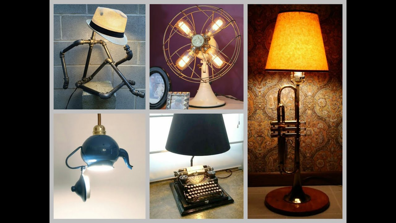 35 recycled lamp ideas trash to treasure diy projects. Black Bedroom Furniture Sets. Home Design Ideas