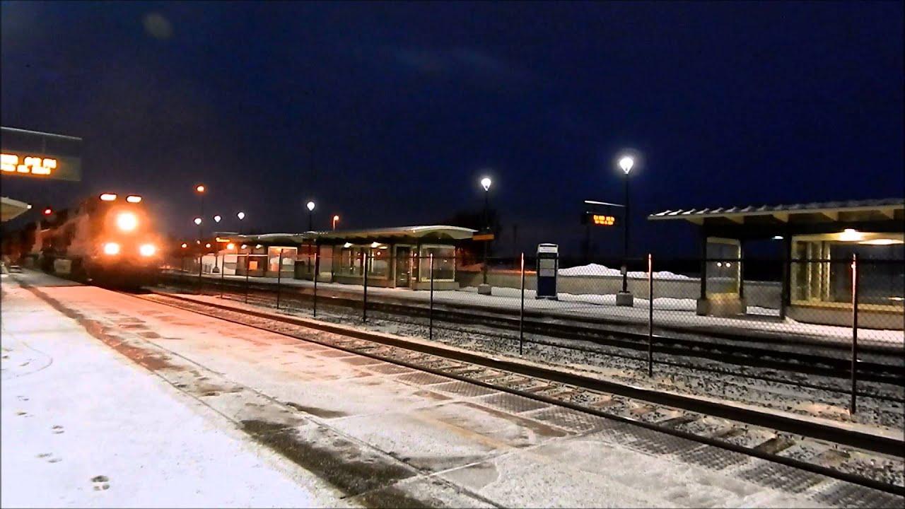 Y Elk River Mn Two BNSF trains...