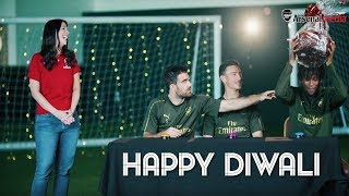 Happy Diwali | Sokratis v Koscielny v Iwobi in a Diwali challenge