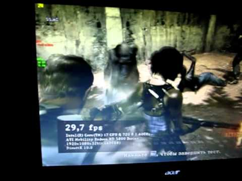 Resident Evil 5 Benchmark on laptop Acer 8942g Ati Mobility Radeon HD 5850  Core i7 720QM 1 60ghz