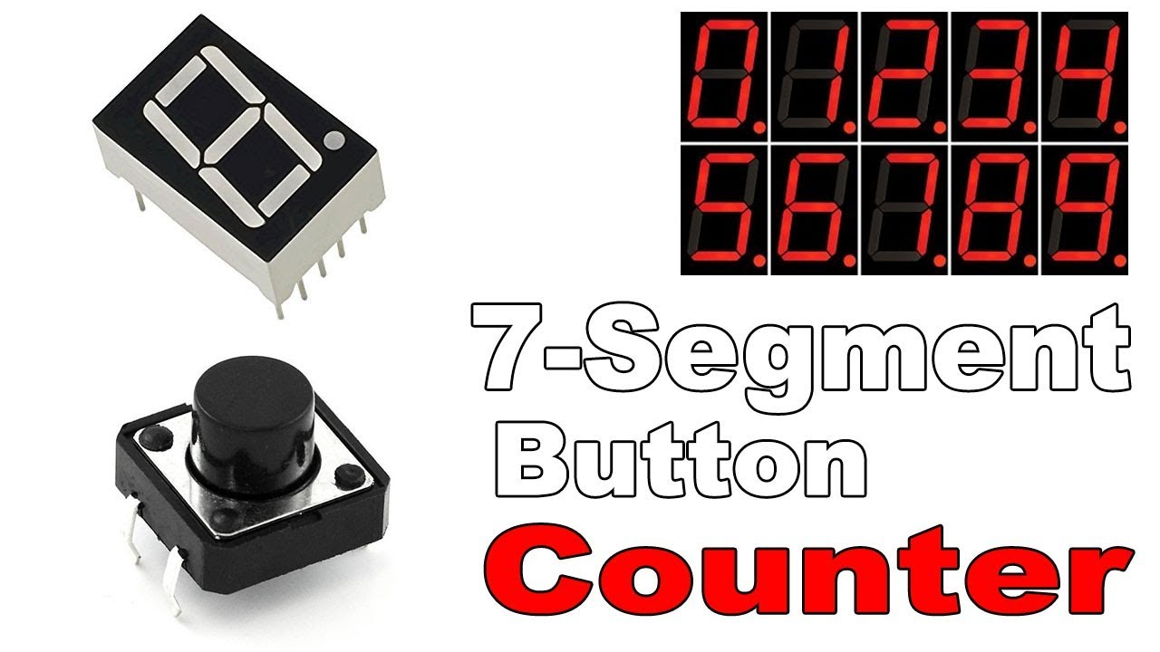 7 Segment Display Counter With Push Button Arduino Tutorial Youtube 4 Digit Circuit