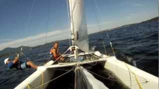 gopro a l avant d un catamaran nacra F18