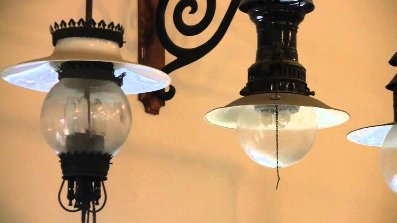 ANTIQUE CARBON ARC LIGHTS DISPLAY - YouTube