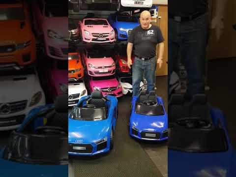 Audi r8 midi and Audi r8 compact kids ride on cars