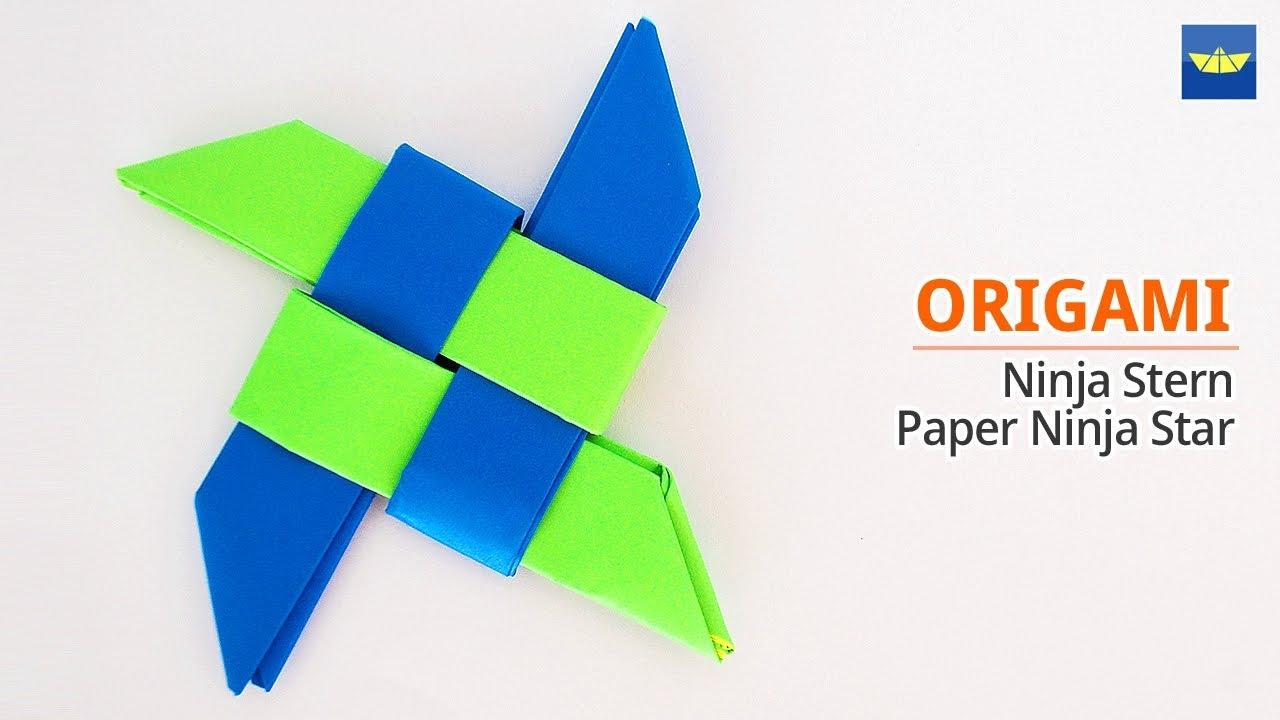 Basteln Origami Ninja Stern Origami Ninja Star 표창접기 종이