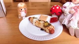 Doginoとはホットドッグとピザのハーフです。メキシコしか食べられない...