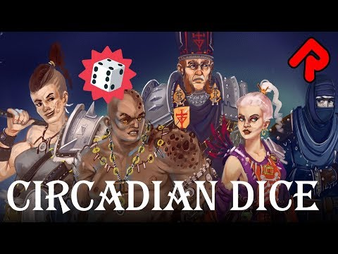 Free Deckbuilder Game with Dice Instead of Cards!   Circadian Dice gameplay