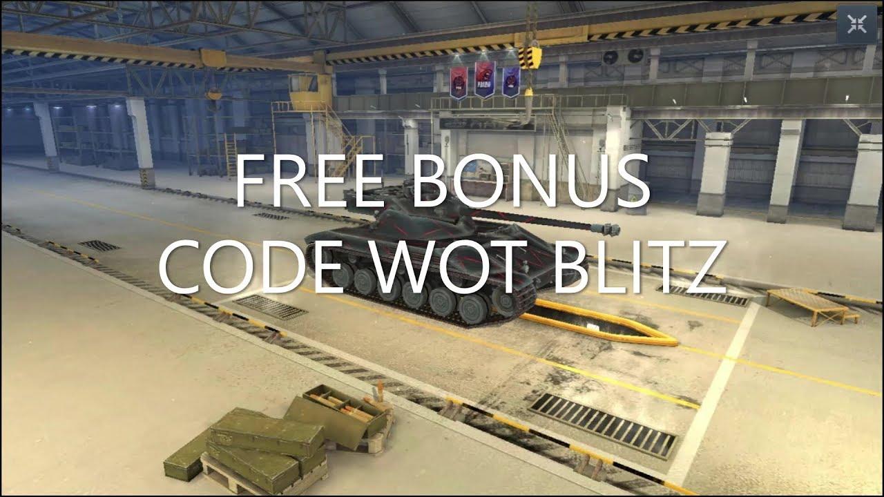 Wot blitz bonus code 2019