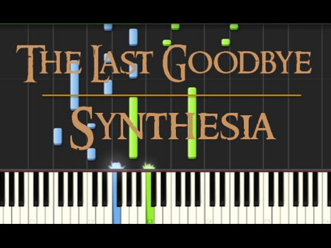 Billy Boyd - The Last Goodbye - Synthesia Piano Tutorial (The Hobbit: The Battle of the Five Armies)