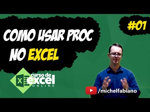 Função PROC - Como PROCURAR dados com função PROC no EXCEL - Aula 04 - Excel - Como usar PROC