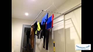 Ceiling Mounted Clotheslines And Airers - Pulley Raise And Lower