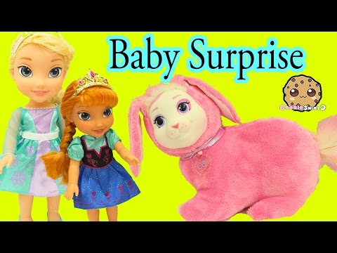 Bunny Surprise - Queen Elsa & Anna's Pet Bunny Has Babies - Cookieswirlc Video