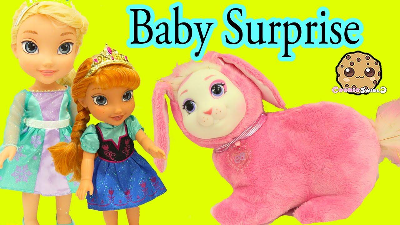 Bunny Surprise - Queen Elsa & Anna's Pet Bunny Has Babies - Cookieswirlc Video