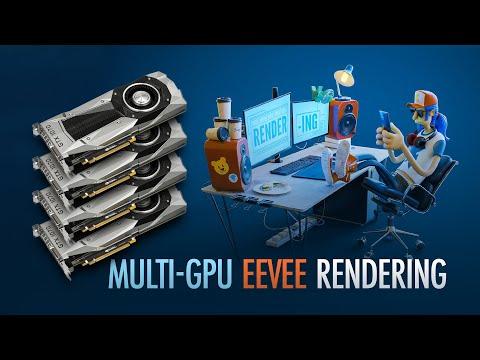 Using Multiple GPU To Render An EEVEE Animation In Blender