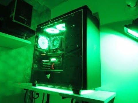 RAZER GAMING PC--RYZEN 7--GTX 1070--NZXT H440 RAZER PC[TecBox  Colombia][TIME LAPSE BUILD