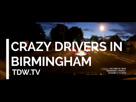 Crazy Drivers in Birmingham - forcing into oncoming  traffic and running red light! thumbnail