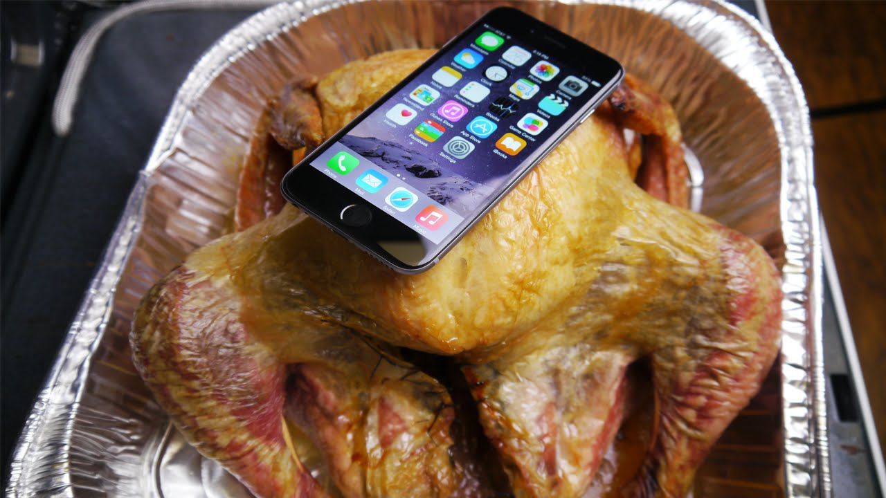 iPhone 6 Baked Inside Turkey for 4 Hours! - YouTube