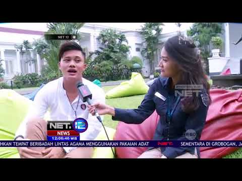 Live Report - Rizky Febian Turut Ramaikan Peringatan Sumpah Pemuda di Istana Bogor - NET12