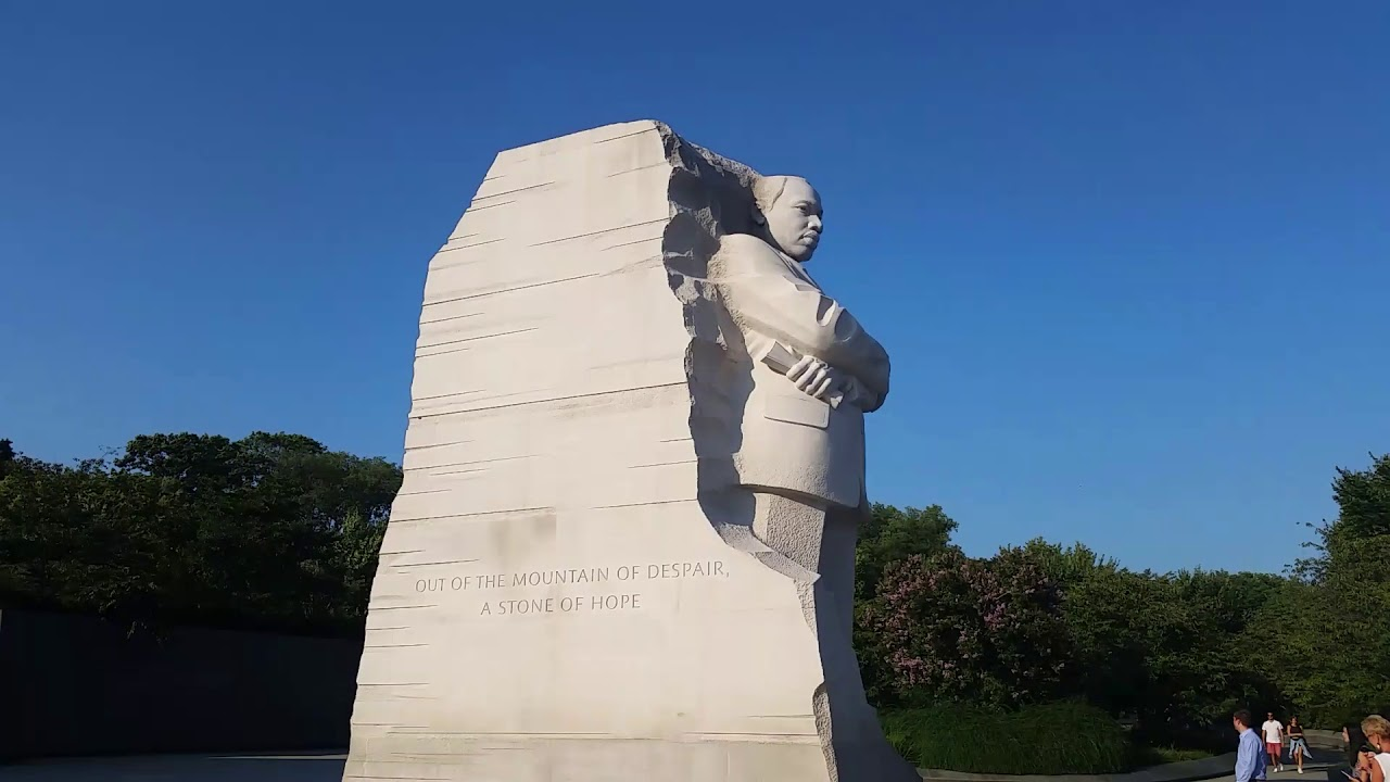 At The Awesome Martin Luther King Jr Statue Monument In Washington