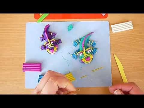 3 клас. Мистецтво. Слідами диво-звірів. Ліпимо з пластиліну фантастичного дракона.