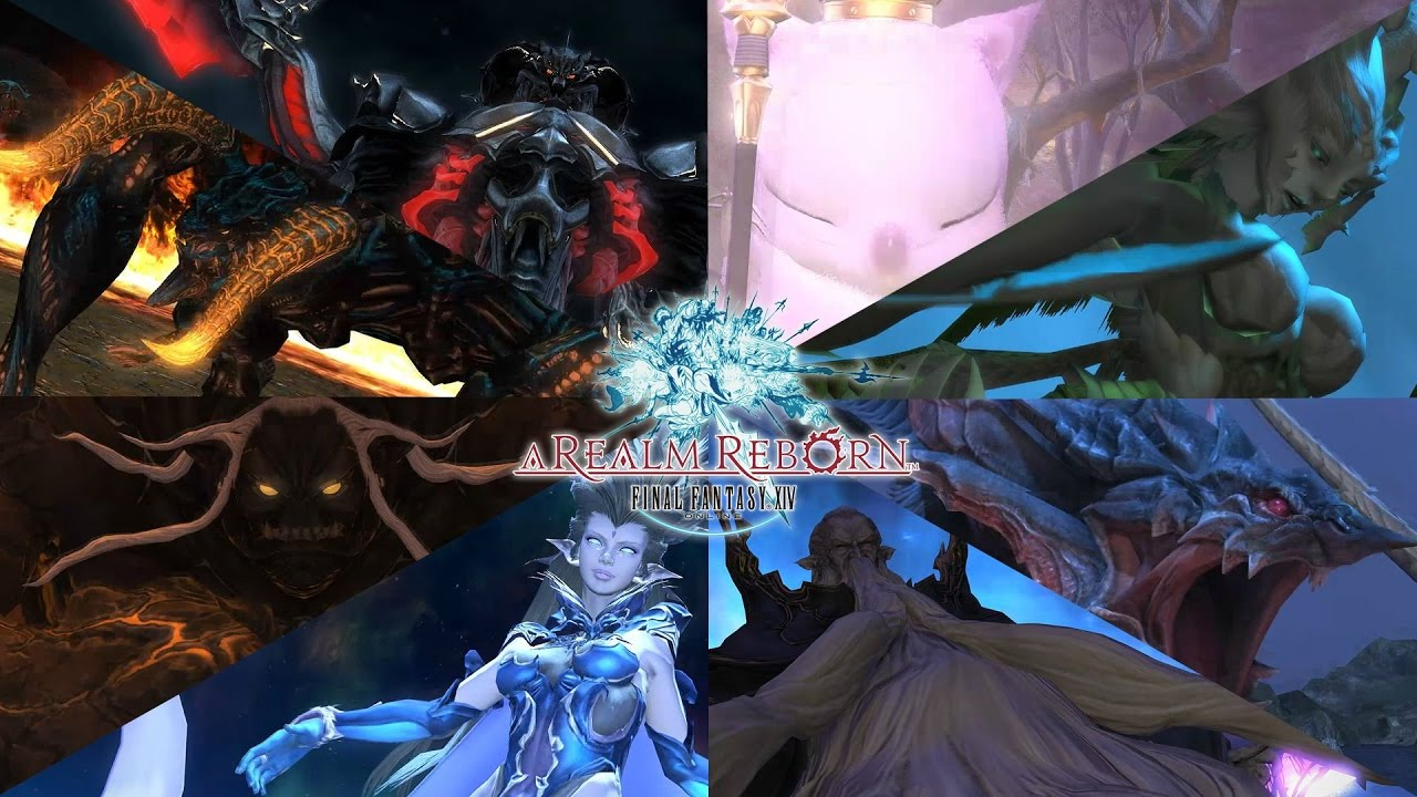 Final Fantasy XIV: Primals (Summons) and Boss Intros (Partial)