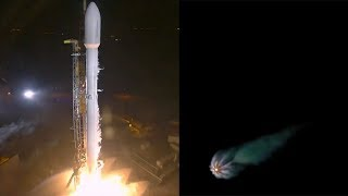SpaceX Falcon 9 launches Zuma & Falcon 9 first stage landing, 8 January 2018