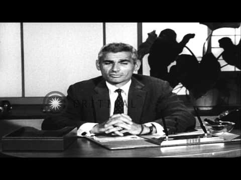 Film star Jeff Chandler appeals to Americans to buy Series E Bonds on the 15th an...HD Stock Footage