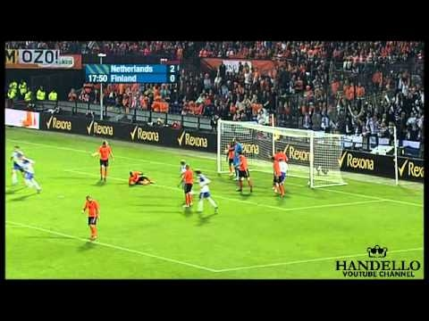 Netherlands - Finland 2-1, All Goals & Full Highlights, UEFA Euro 2012 Qualifiers