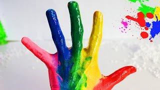 FINGER FAMILY Семья пальчиков на русском Учим цвета Пальчики песенки для детей Развивающие мультики