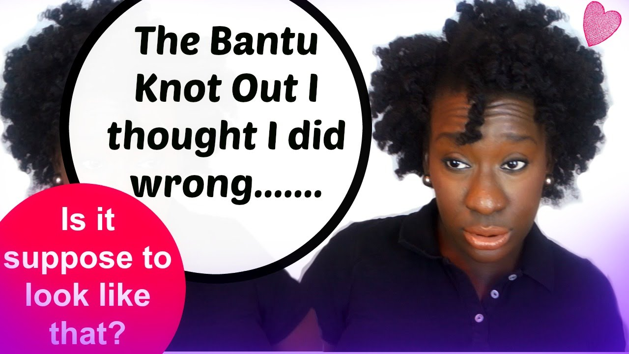 the bantu knot out on 4c natural hair - youtube