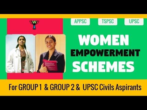 WOMEN EMPOWERMENT SCHEMES INDIA - CURRENT AFFAIRS 2016
